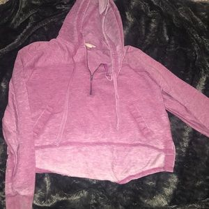Pink Cropped Hoodie Size S